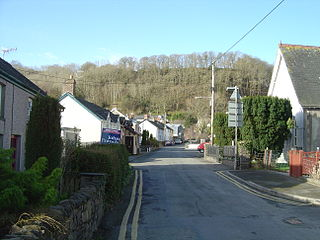 Llandre village in Wales