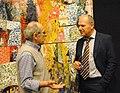 Lo scrittore Giordano Berti con l'artista Giorgio Moiso.jpg