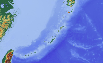 Location map Japan Ryukyu Islands