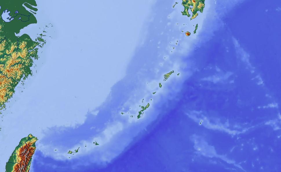 Yonaguni is located in Ryukyu Islands