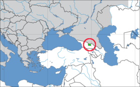 Location of South Ossetia
