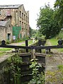 Lock on the Huddersfield Narrow Canal, Golcar - geograph.org.uk - 494066.jpg