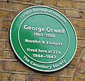 London May 30 2016 069 George Orwell Canonbury Square Islington (27323099766).jpg