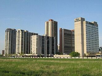 Montréal-Sud - Place Charles-Le Moyne skyline.
