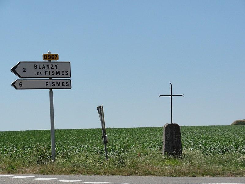 Longueval-Barbonval (Aisne) croix de chemin