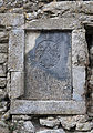 Lorrha Priory of St. Peter Choir North Wall Memorial Plaque of Constantine Egan and his son John 4 October 1689 2010 09 04.jpg