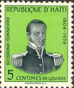 Boisrond-Tonnerre - Louis Boisrond Tonnerre on a Haitian postage stamp for the 150-year anniversary of the Haitian Revolution, (1804-1954).