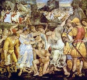 Palazzo del Magnifico - Luca Signorelli, Amore sconfitto e trionfo di Castità