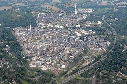 Luftbild Gelsenkirchen Raffinerie Werk Scholven 1