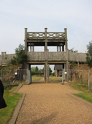 Lunt Roman Fort - Image: Lunt Roman Fort main gate
