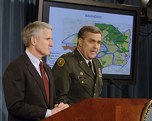 Douglas Lute - Lt. Gen. Lute and Deputy Assistant Secretary of Defense for Middle East Mark Kimmitt conduct a press briefing, February 9, 2007.