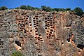 Lykische Felsengräber der antiken Stadt Pinara, Türkei.JPG