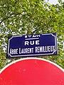 Lyon 8e - Rue de l'Abbé Laurent Remillieux - Plaque (mai 2019).jpg