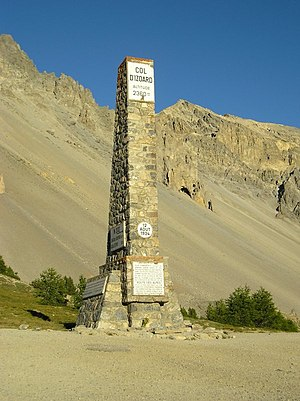 Col d'Izoard - Memorial at the top of Col d'Izoard