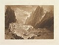 Mêr de Glace, Valley of Chamouni-Savoy (Liber Studiorum, part X, plate 50) MET DP821483.jpg