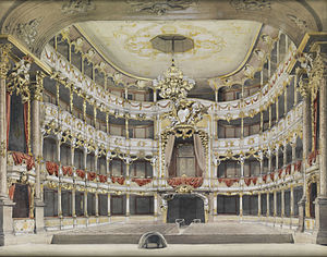 Cuvilliés Theatre - Cuvilliés Theatre interior, 19th century