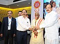 M. Venkaiah Naidu presented the HMTV and Hans India Business Excellence Awards 2017 for best in manufacturing to NTPC Ramagundam, Regional Executive Director (South), Shri V.B. Fadnavis, at a function, in Hyderabad.jpg