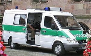 Deutsch: MB Sprinter Polizei als Befehlskraftwagen