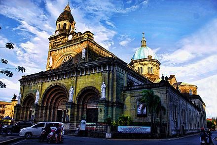 Facade of Manila Cathedral. - Philippines
