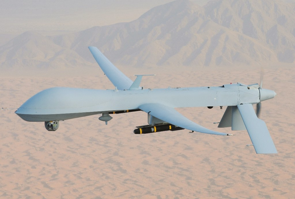 MQ-1 Predator, armed with AGM-114 Hellfire missiles