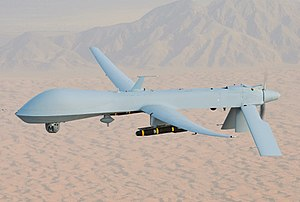 MQ-1 Predator, armed with AGM-114 Hellfire missiles.jpg