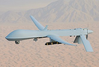 General Atomics MQ-1 Predator - A US Air Force MQ-1 armed with AGM-114 Hellfire missiles