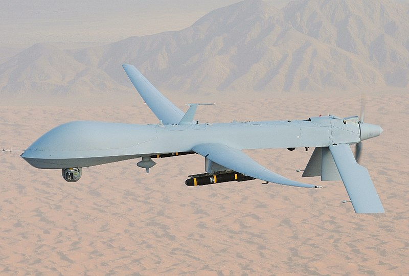 File:MQ-1 Predator, armed with AGM-114 Hellfire missiles.jpg