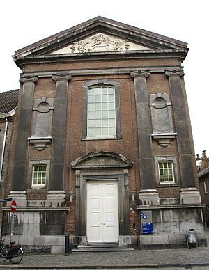 "Canonesses Regular of the Holy Sepulchre - The 'Bonnefanten"" convent in Maastricht, nowadays a faculty building of the University of Maastricht"
