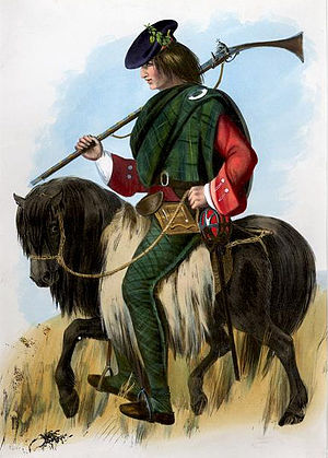 Clan MacNeil - Mac Neil – a romanticized Victorian era plate illustrated by R. R. McIan.