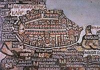 תיאור העיר ירושלים מפת מידבא ויקיפדיה
