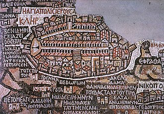 Aelia Capitolina - Image: Madaba map