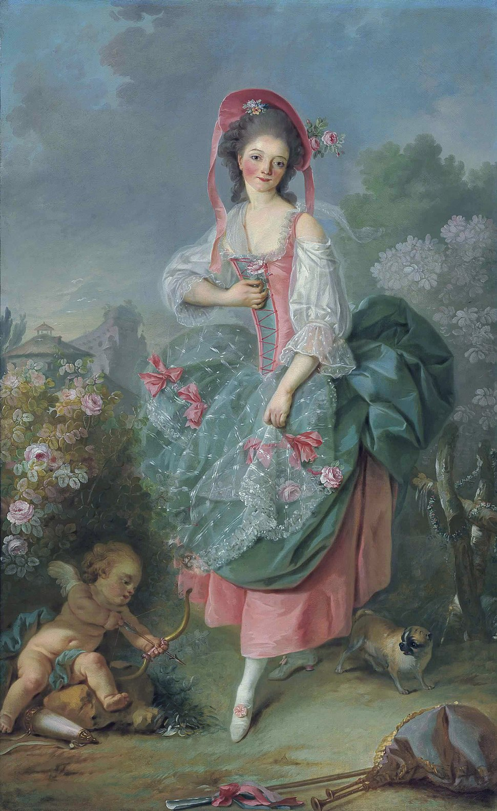 Mademoiselle Guimard as Terpsichore, by Jacques-Louis David