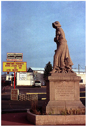 Springerville, Arizona - A Madonna of the Trail monument in Springerville