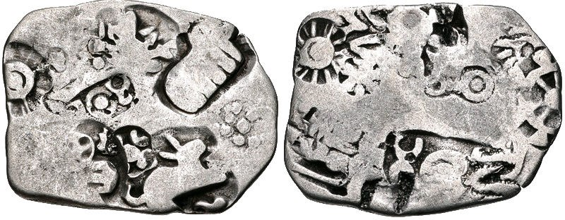 Magadha kingdom coin Circa 350 BC AR Karshapana