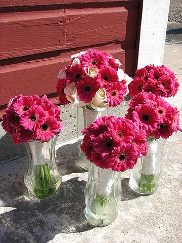 silk wedding flowers arrangements