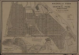 Magnolia Park, Houston - Magnolia Park and Central Park subdivisions, Houston, Texas (circa 1918)