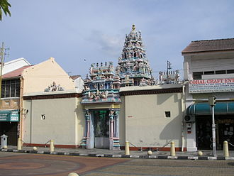 Sri Mahamariamman Temple, Penang - The Mahamariamman Temple back entrance at Pitt Street