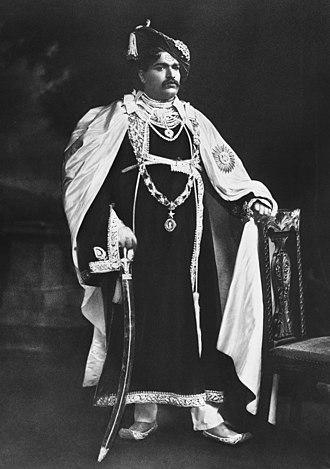 Shahu of Kolhapur - Portrait of Rajarshi Shahu Maharaj of Kolhapur(1912)