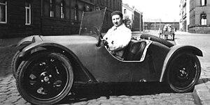 Josef Ganz - Josef Ganz in the Maikäfer prototype, 1931