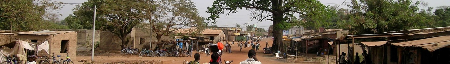 The main street of Gaoua.