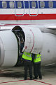 Maintenance task at Boeing 737-800 American Airlines (7263304382).jpg