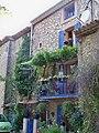 Maison comtadine avec treille en facade.jpg