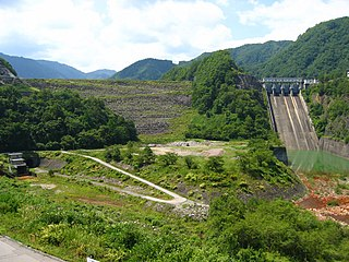 Makio Dam Dam in Nagano Prefecture, Japan