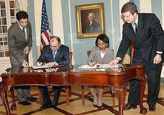 Elmar Mammadyarov - Image: Mammadyarov and Rice 2007