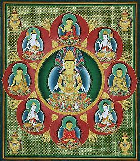 emanations/representations of the five qualities of the Adi-Buddha: Vairocana, Amoghasiddhi, Amitābha, Ratnasambhava, Akshobhya