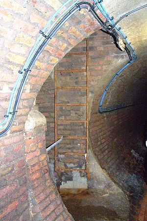 Combined sewer - Photo of the interior of a combined sewer in Brighton, England.