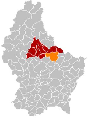 Vallée de l'Ernz - Image: Map Ärenzdall