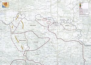 Operation Corridor 92 - Map of military deployments in the Bosanska Posavina, April–June 1992