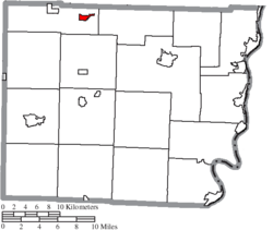 Location of Flushing in Belmont County