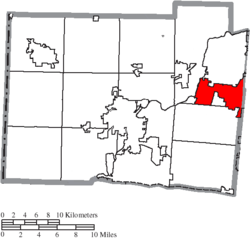 Location of Monroe in Butler County